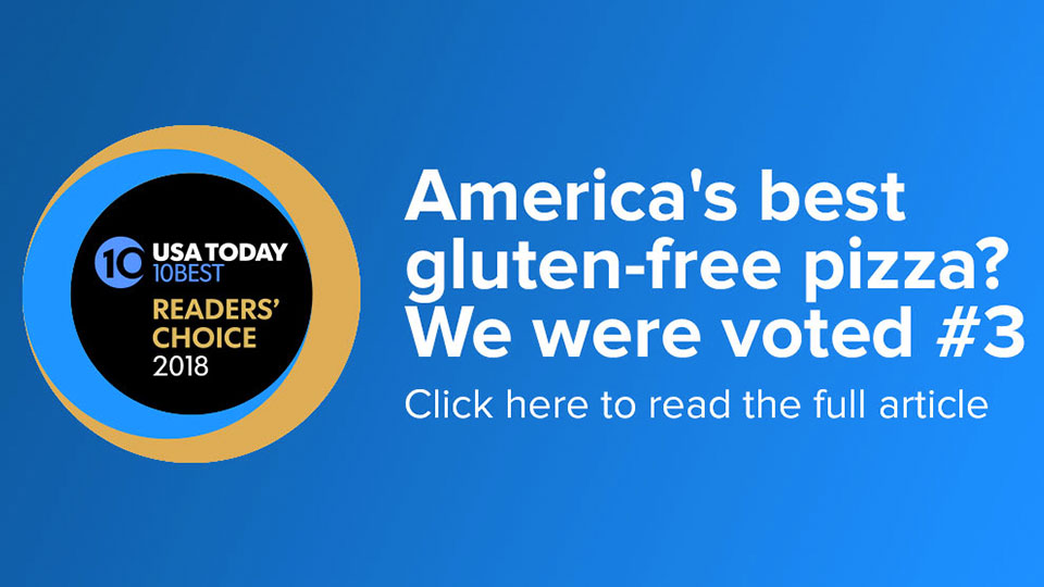 America's best gluten-free pizza? We were voted #3. Click to read the full article.